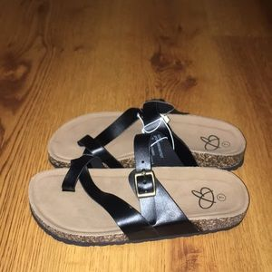 Women sandals super size black  brand new